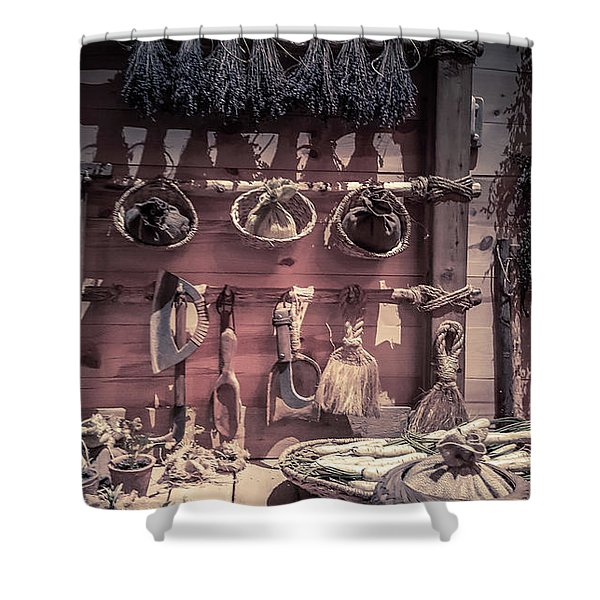 Ancient Style Kitchen Shower Curtain
