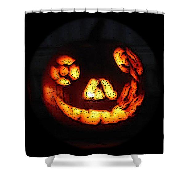 Andy's Jack O Lantern Shower Curtain