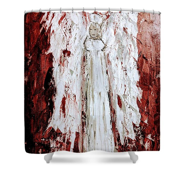 Angel Against Violence Shower Curtain