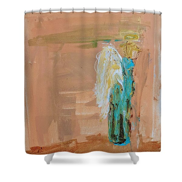 Angel Boy In Time Out  Shower Curtain