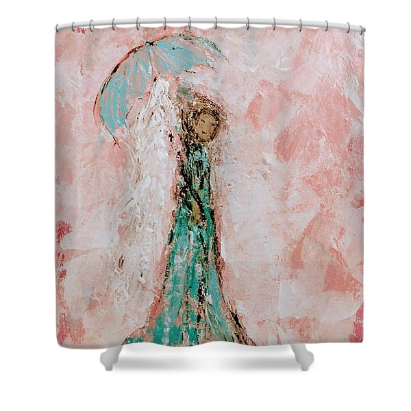 Angel By Your Side Shower Curtain