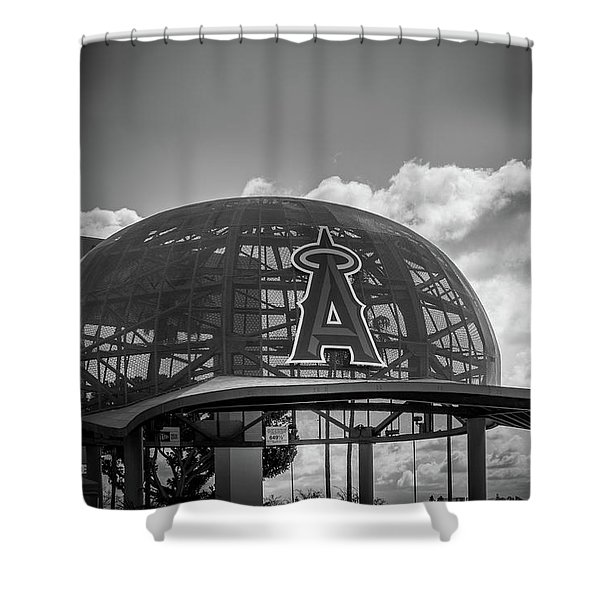 Angel Cap In Black And White Shower Curtain