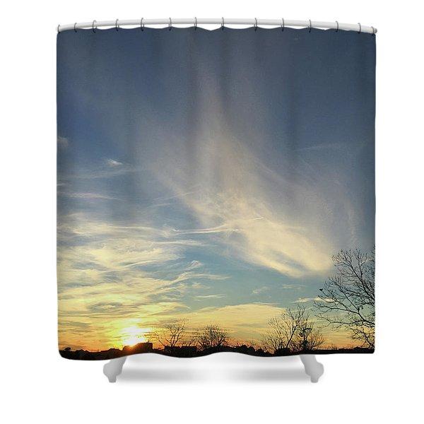 Angel Cloud Sunset Shower Curtain