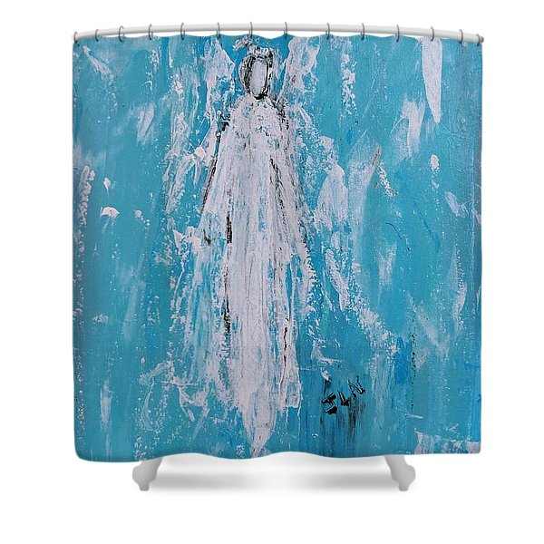 Angel For Grievance Shower Curtain