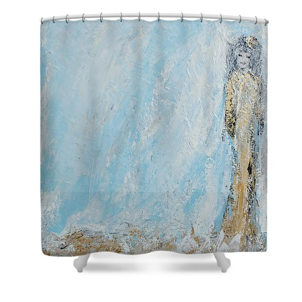 Angel For The New Year Shower Curtain