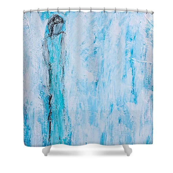 Angel Of Dreams And Hope Shower Curtain