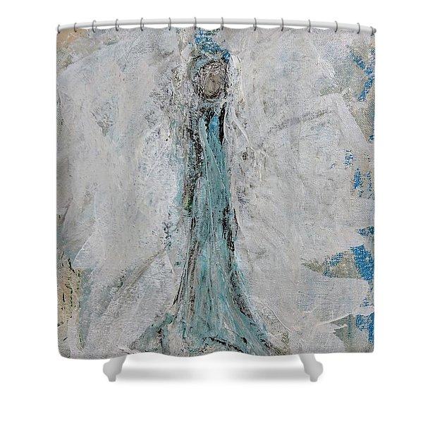 Angel Of Faith Shower Curtain