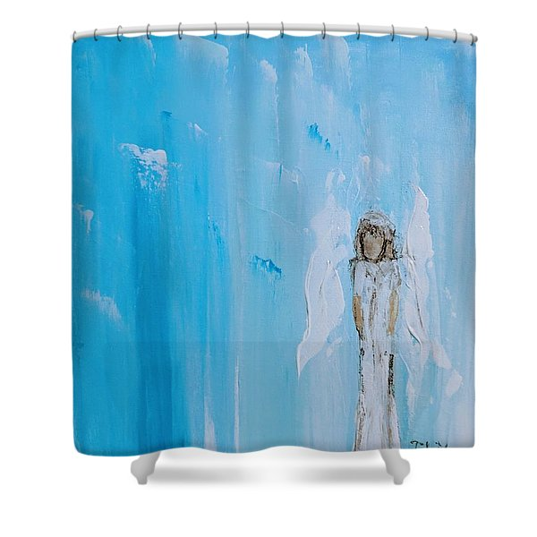 Angel Of Simplicity Shower Curtain