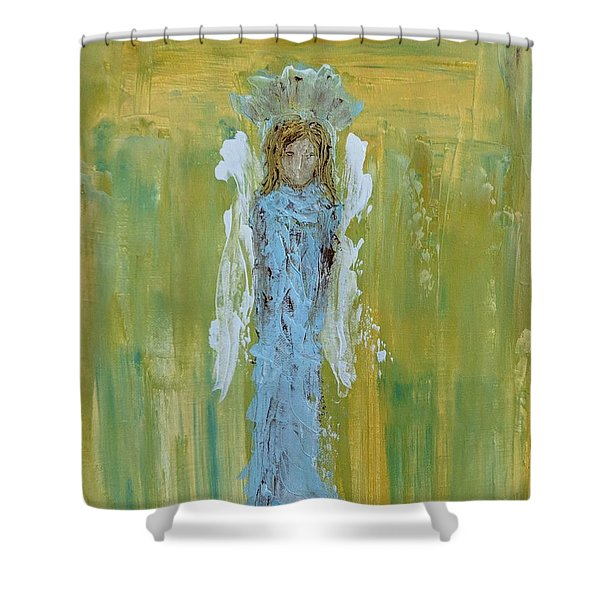 Angel Of Vision Shower Curtain