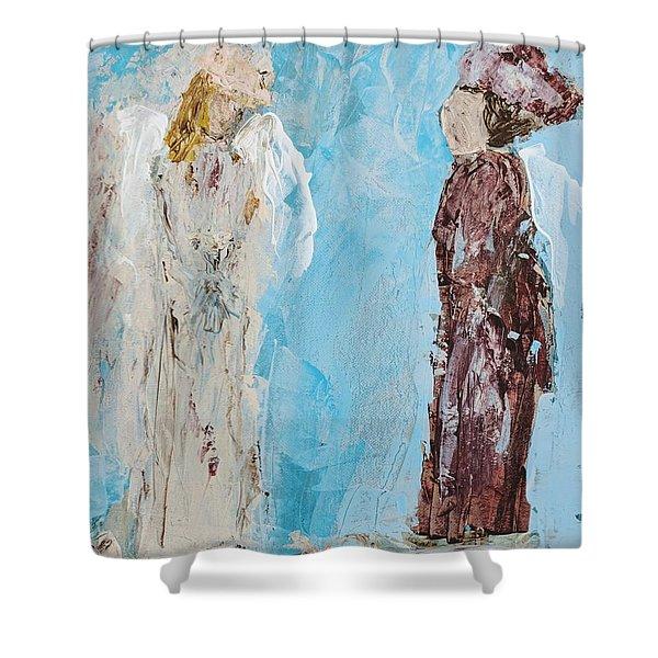 Angel Of Wisdom Shower Curtain