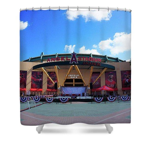 Angel Stadium Shower Curtain