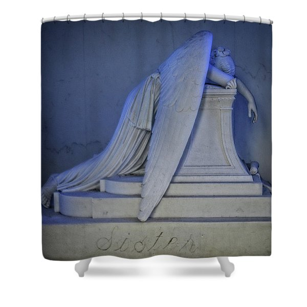 Angel Weeping Shower Curtain