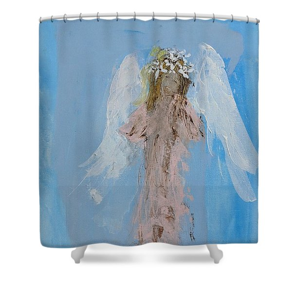 Angel With A Crown Of Daisies Shower Curtain