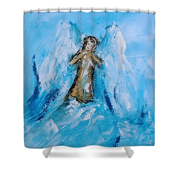 Angel With A Purpose Shower Curtain