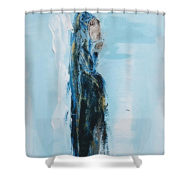 Angel With Child Shower Curtain