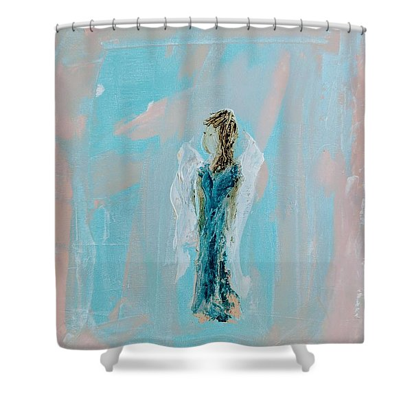 Angel With Character Shower Curtain