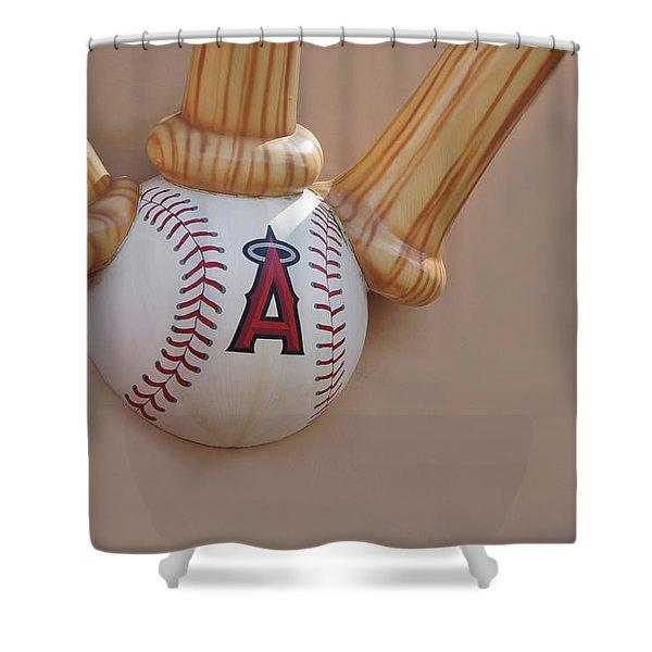 Angels Baseball, Anaheim Shower Curtain