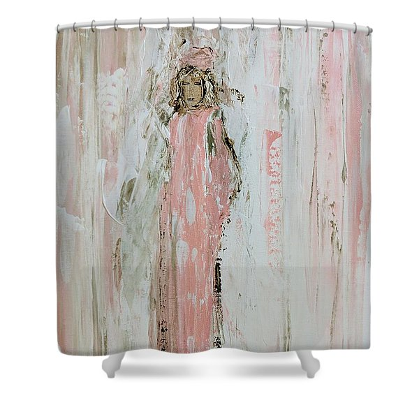 Angels In Pink Shower Curtain