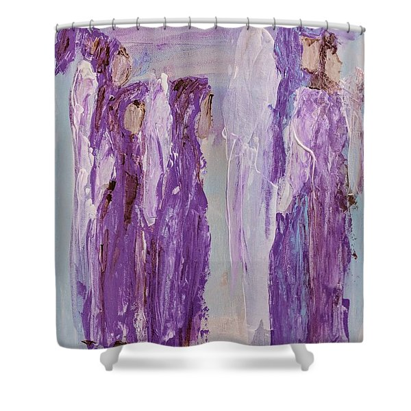 Angels In Purple Shower Curtain