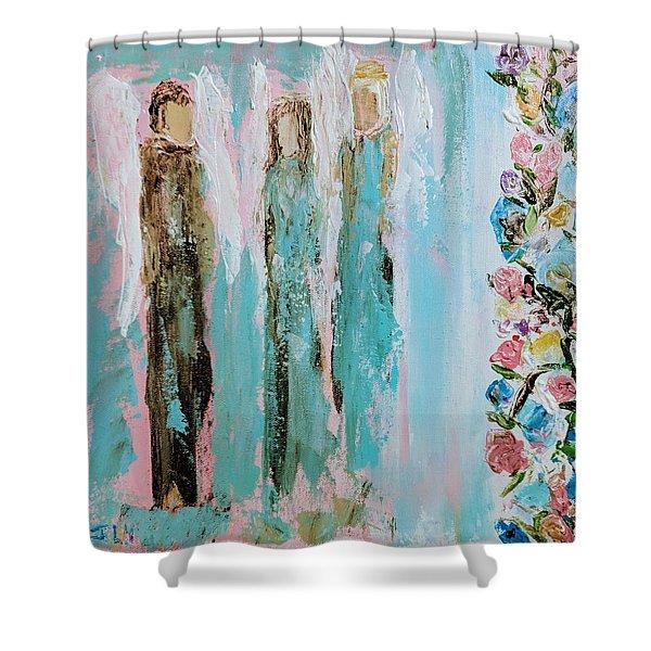 Angels In The Garden Shower Curtain