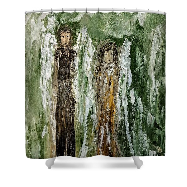 Angels For Support Shower Curtain
