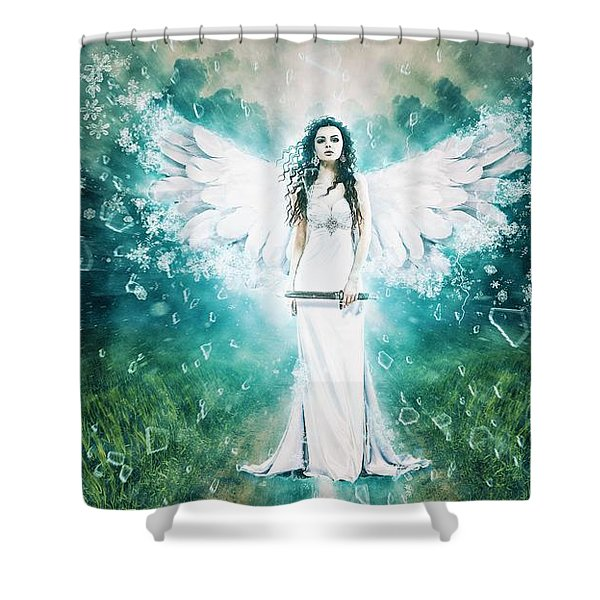 Anger Of The Goddess Shower Curtain