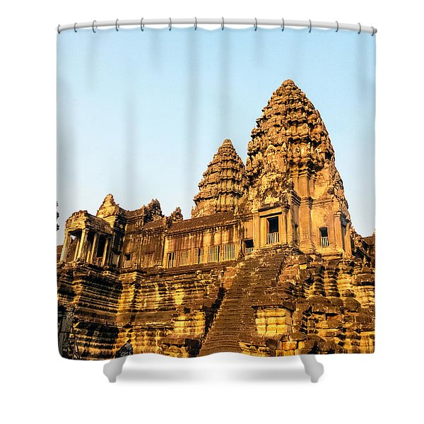 Angkor Wat Temple 1, Cambodia Shower Curtain