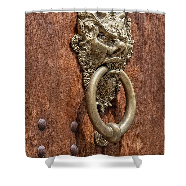 Angry Devil Of Venice Shower Curtain