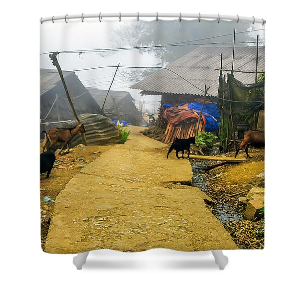 Animal Farm In Sapa, Vietnam Shower Curtain