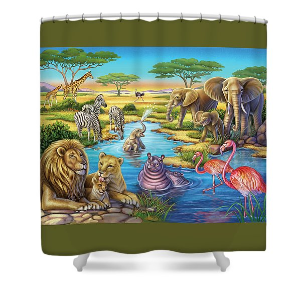Animals In Africa Shower Curtain