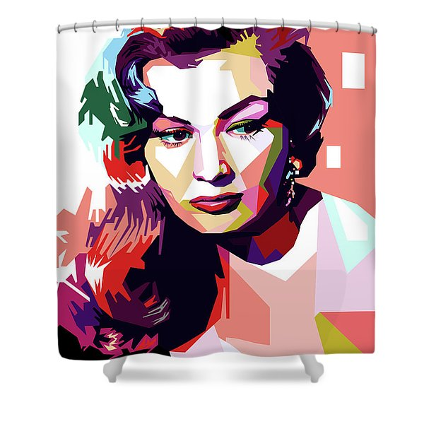 Anita Ekberg Pop Art Shower Curtain