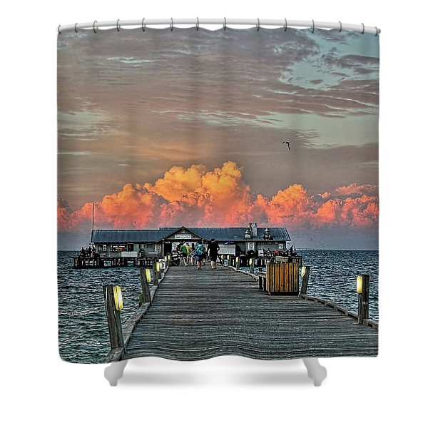 Anna Maria City Pier Shower Curtain