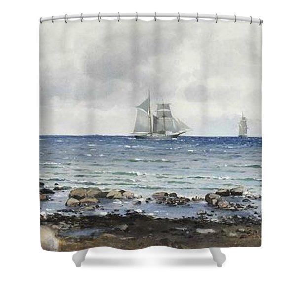 Anna Palm De Rosa - Kalmarsund Shower Curtain