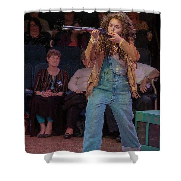 Annie Got Her Gun Shower Curtain