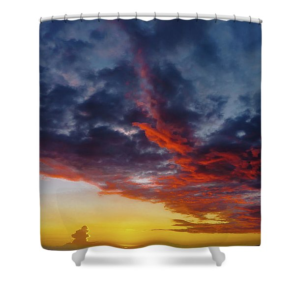 Another Colorful Sky Shower Curtain