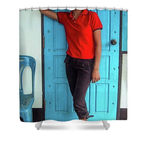 Another Lovely Smile Shower Curtain