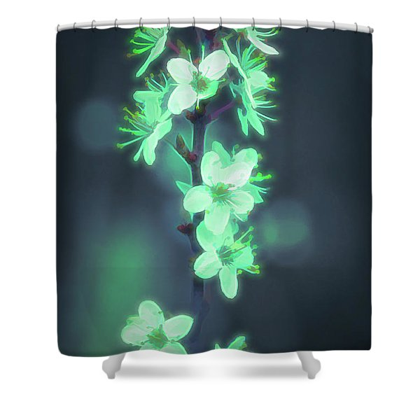 Another World - Glowing Flowers Shower Curtain