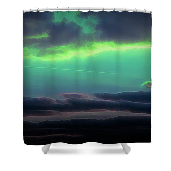 Shower Curtain featuring the digital art Another World by Scott Lyons