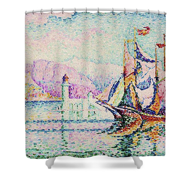 Antibes, Morning - Digital Remastered Edition Shower Curtain