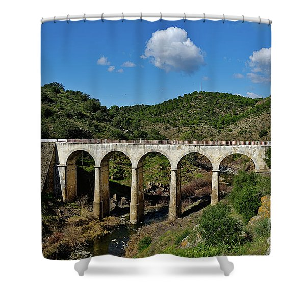 Antique Mertola's Bridge In Alentejo Shower Curtain