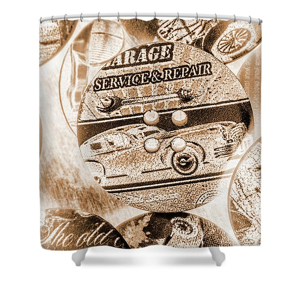 Antique Service Industry Shower Curtain