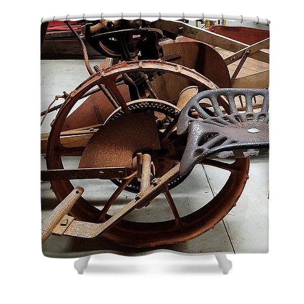 Antique Tractor Seat Shower Curtain