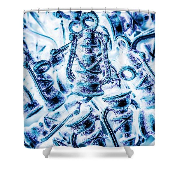 Antiquity Blue Shower Curtain