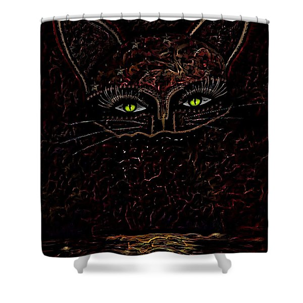 Appearance Of The Mystic Cat Shower Curtain