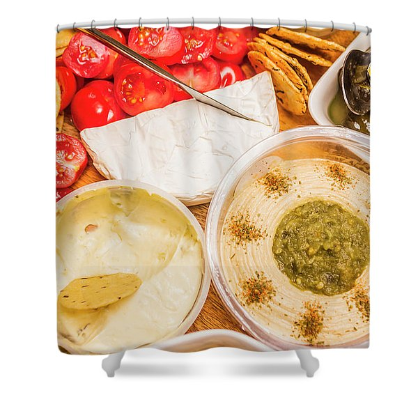 Appetizers Delight Shower Curtain