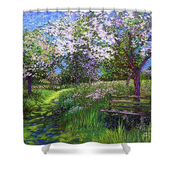 Apple Blossom Trees Shower Curtain