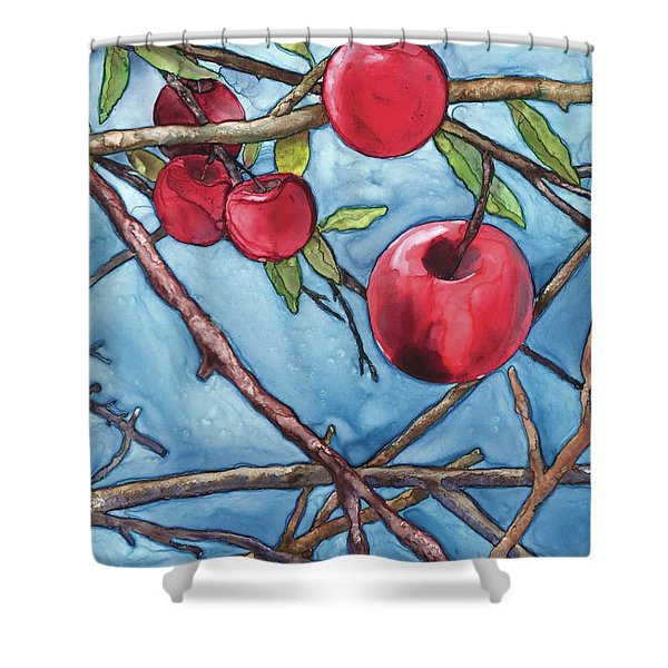 Apple Harvest Shower Curtain
