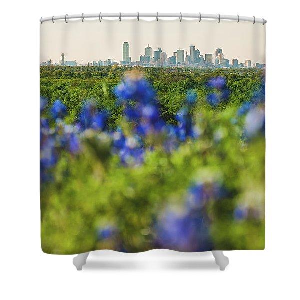 April In Dallas Shower Curtain