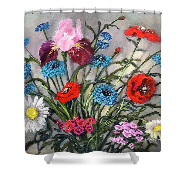 April, May, June Shower Curtain