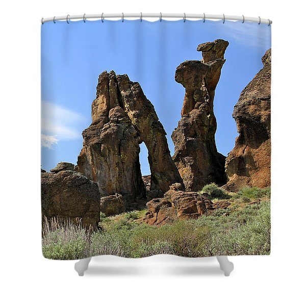 Arches Hoodoos Castles Shower Curtain